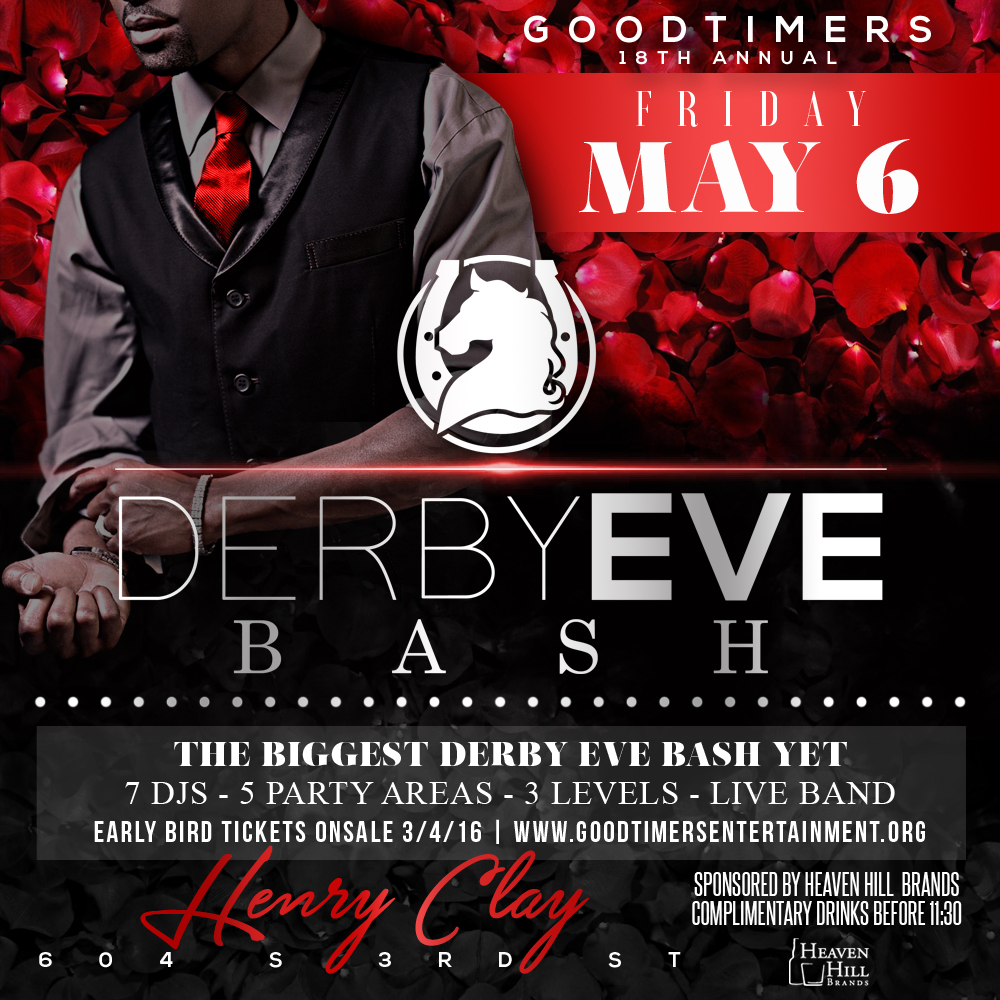 Goodtimers Derby Eve Bash